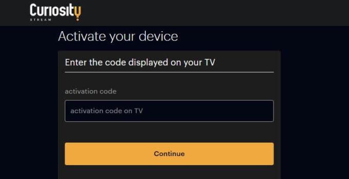 curiosity-tv-activate-code